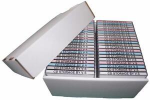 CD-Storage-Box-Case-Unit-Organiser-INCLUDING-Lid-4-Pack-Deal-Holds-40-Cd-039-s