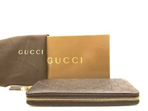 5deb6073788a Image is loading Gucci-Guccissima-Bamboo-Tassel-Zip-Wallet-Brown