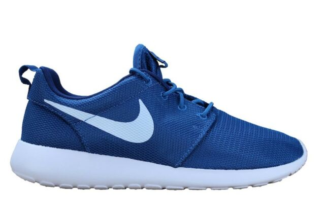 a21883bd7230 Nike Roshe One Mens 511881-408 Industrial Blue White Running Shoes ...