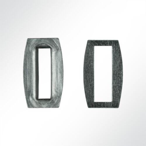 8x27mm in grau 10 Stück BxL Lysel® Rechtecköse 27x8 mm,