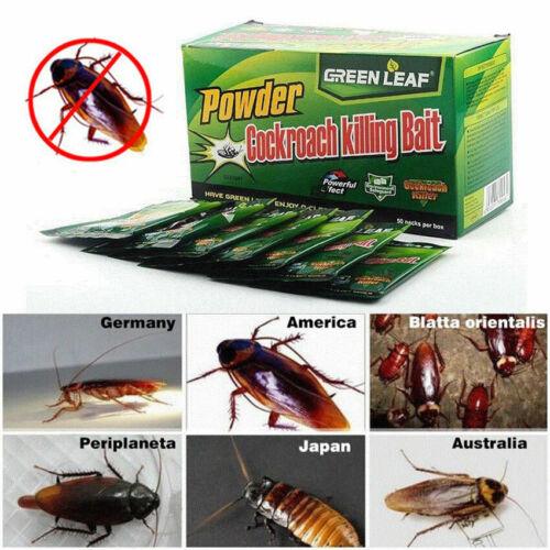 10 packs Cockroach Killing Bait Powder Effective Roach Killer