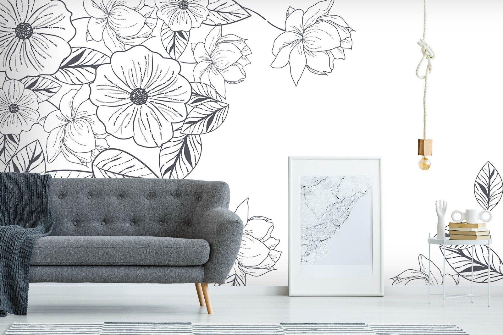 3D Weiß Flower 769 Wall Paper Print Wall Decal Deco Indoor Wall Murals US