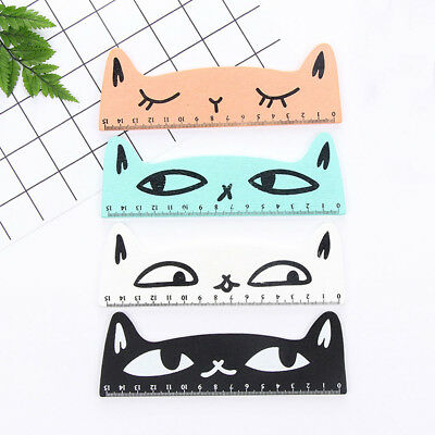 Cute Cat Wood Straight Ruler Creative Measuring Tools Student Stationery Office