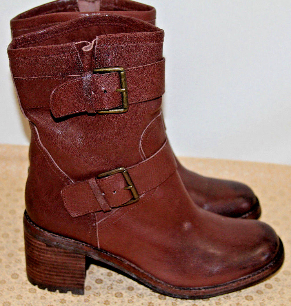 NEW SAM EDELMAN TROY BROWN LEATHER ANKLE BOOTS    SZ 9     MSRP220