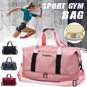 Women-Sport-Gym-Shoulder-Bag-Travel-Luggage-Duffel-Handbag-Yoga-Tote-Waterproof
