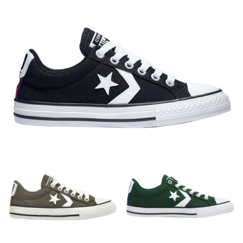 Converse Star Player Ox Canvas Retro Boys Girls Youth Trainers