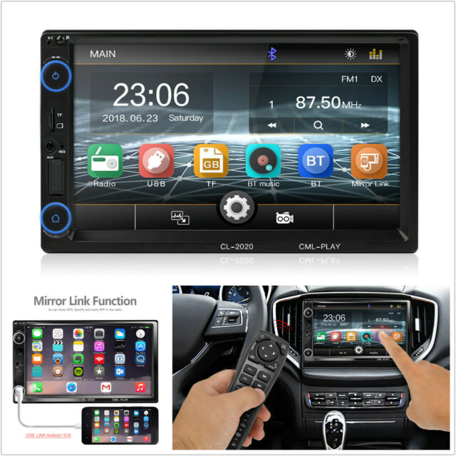 "7"" inch 2DIN Bluetooth Car Dash MP5 Player GPS NAVIGATION Audio Radio Stereo NEW"