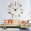 Wall-Clock-Deco-Mirror-Wall-Decal-3D-Design-Wall-Clock-Living-Room-XXL-Silver miniature 11