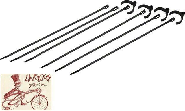 COBRA #1005 TIES KIT 4 FLEXROUTE CABLE GUIDES AND 6 LOW PROFILE 50LB COBRA TIES