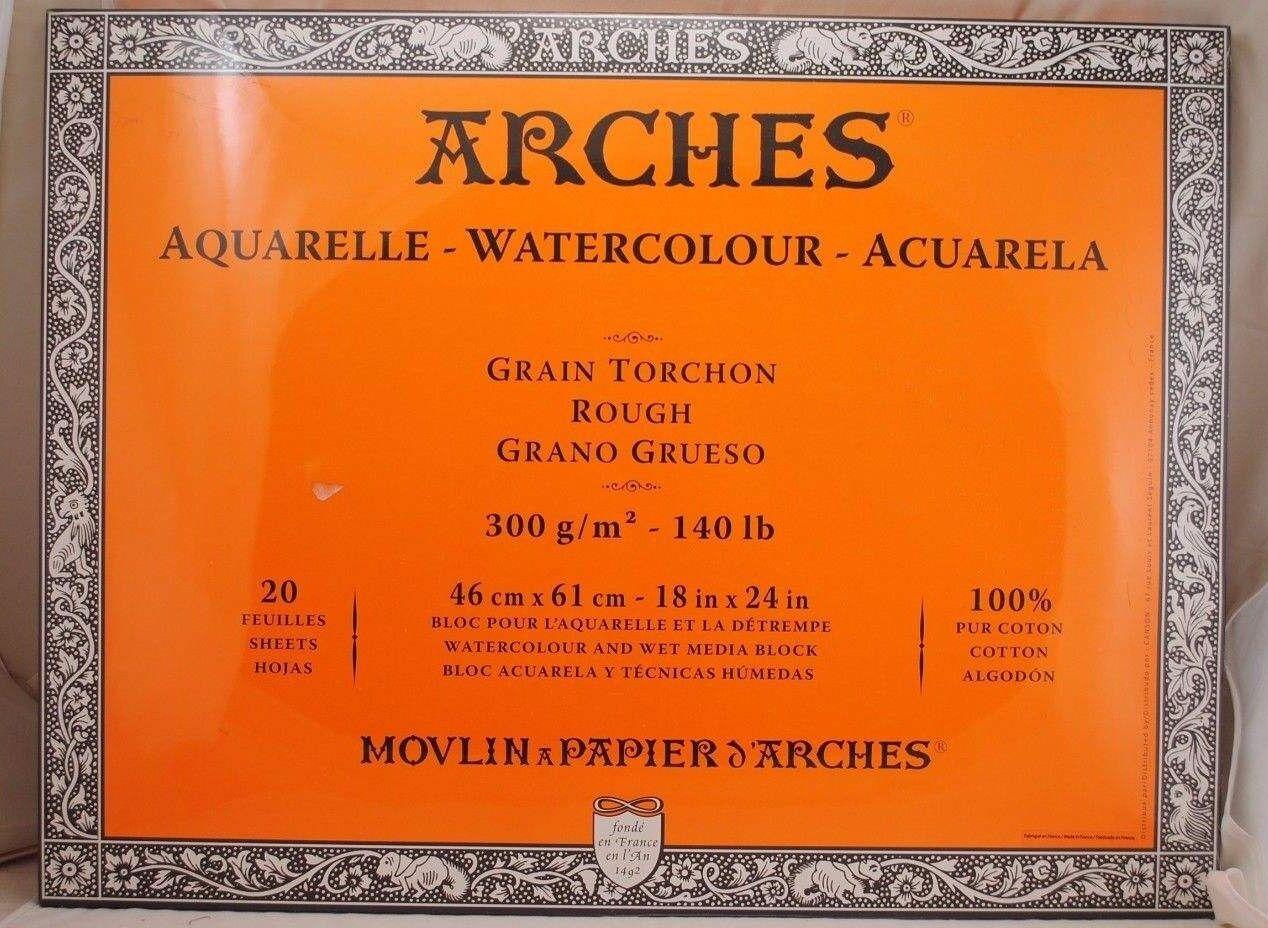 Acuarela Papel 45.7cm X 61cm - Arcos - 20 Sheets 100% Cotton - Producto de