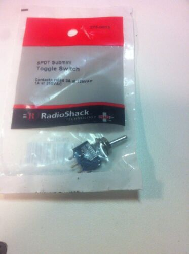 SPDT Submini Toggle Switch #275-0613 By RadioShack