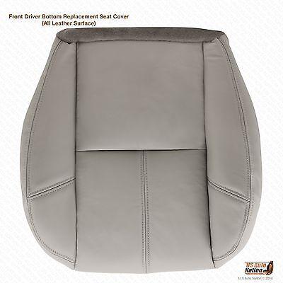 2011 2012 2013 2014 Chevy Silverado Driver Bottom Leather Seat Cover Gray #833