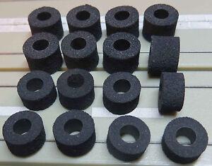 para-H0-COCHE-SLOT-Maqueta-de-tren-8-Goma-Musgosa-ruedas-AFX-8-Neumaticos