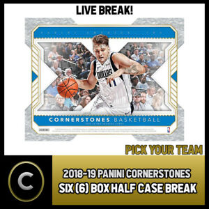 2018-19-PANINI-CORNERSTONES-BASKETBALL-6-HALF-CASE-BREAK-B100-PICK-YOUR-TEAM