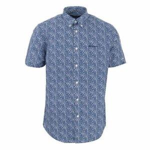 Ben Sherman /'Floral/' Mens Short Sleeved Shirt
