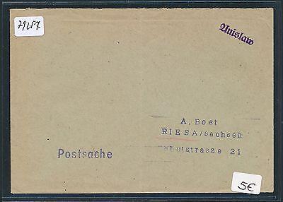 79257 Dr Ostgebiete Polen 1939/40 Not-stpl Brief L1 Anislaw