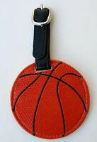 Aa Basketball Luggage Tag Sports Bag Id Faux Vegan Leather Backpack Flair Ganz