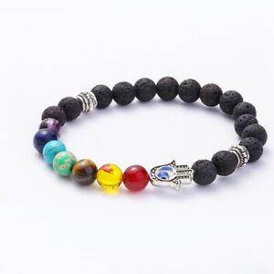 Colorful Bracelet Chacra Evil Eye Chakra Bracelet HAMSA Energy Healing