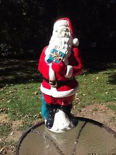 Empire Santa Claus Blow Mold Vintage Christmas 34 Inch Lighted Up Decor 1971