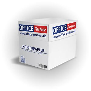 2500 blatt office partner premium kopierpapier din a4 papier 80g m wei ebay. Black Bedroom Furniture Sets. Home Design Ideas