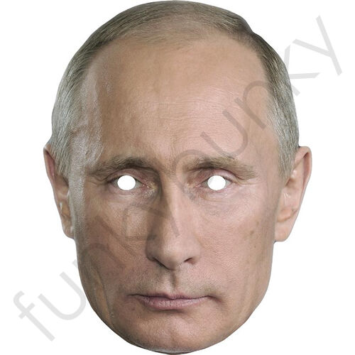Vladimir Putin Russian President Card Mask - All Our Masks Are Pre-Cut!