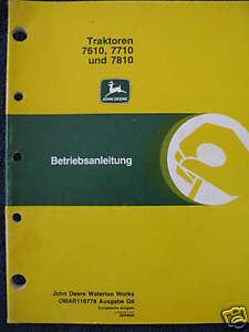John-Deere-7610-7710-7810-Traktoren-Betriebsanleitung-Tractor-Operator-Manual
