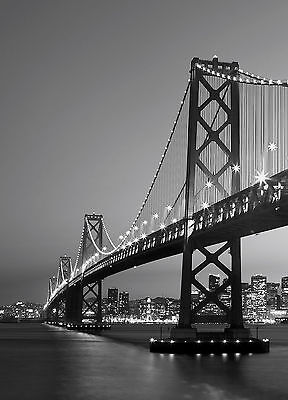 Fototapete SAN FRANCISCO SKYLINE 183x254 Golden Gate Bridge in SW, atemberaubend