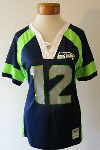 367a92e1b A imagem está carregando Novo-com-etiquetas-Majestic-Seattle-Seahawks -Fan-12-