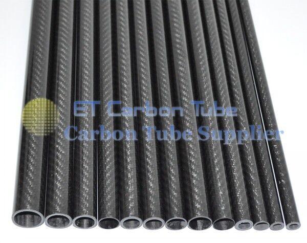 2pcs 10mm OD x 6mm ID X 1000MM(1m)Long carbon Fiber tube 3k  Tubing pipe F0