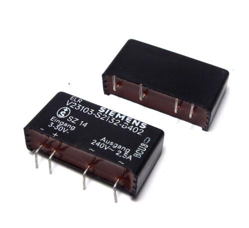 240V 2.5A 2x Elektronisches Last-Relais Siemens V23103-S2132-B402 3...30 VDC