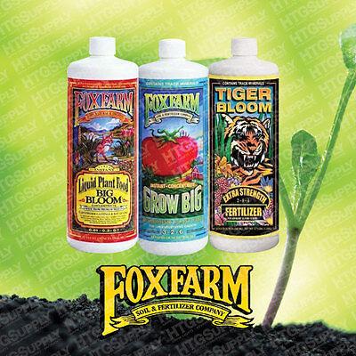 ALL NATURAL FoxFarm ORGANIC 3 Pack FERTILIZER NUTRIENT