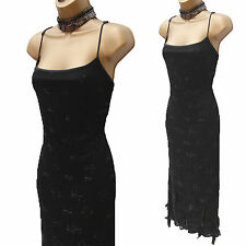 Karen Millen Black Vintage Beaded Feather Gatsby Long Gown Maxi Wedding Dress 12