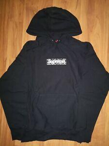 Supreme Black Box Logo Hoodie Xl extra Large Black