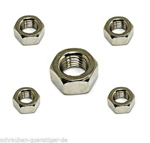 Sechskantmuttern 5 mm DIN 934 M 5  Edelstahl A2 50 Stk.