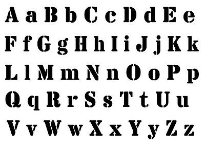 3 4 Z /& numbers  2 5 or 6cm sizes FREE POST Alphabet Letter stencil #176  A