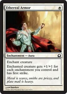 *MRM* FRENCH 4x Armure éthérée – Ethereal Armor MTG Return to ravnica