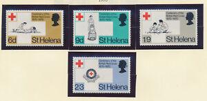 St-Helena-Stamp-Set-Scott-236-9-Mint-Very-Lightly-Hinged-Red-Cross