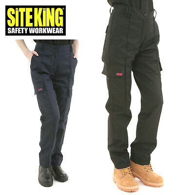 Site King Womens Cargo Combat Work Trousers Size 8 To 22 - Ladies 005 100% Hochwertige Materialien
