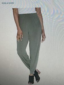 Lisa Rinna Collection Knit Ankle Pant Army Green XXS NEW A309057