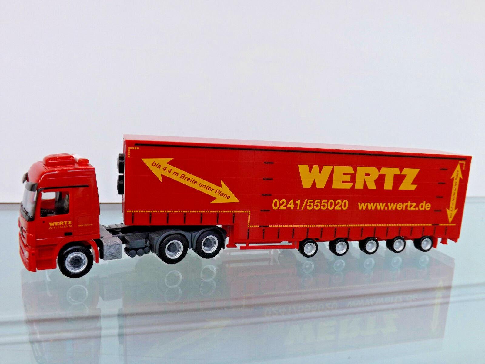Herpa 309431 - 1 87 - MB Actros L 6x4 Meusburger-Semi-remorque  marwertz Aachen  - NEUF