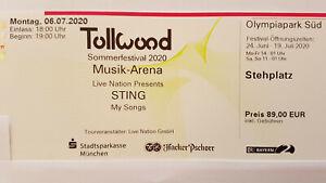 STING 16.07.2022 Tollwood Sommerfestival München - neuer Termin !
