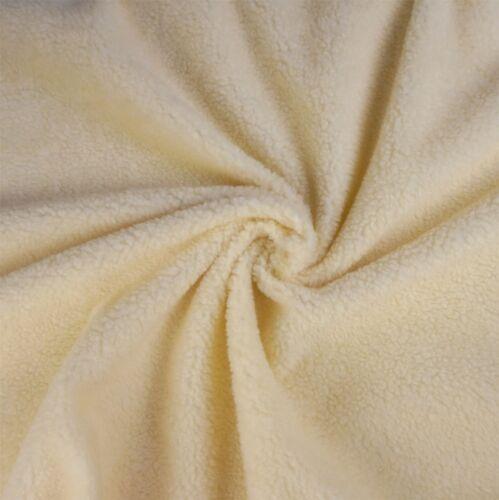 por Metro Crema piel sintética de oveja Tela Polar Sherpa
