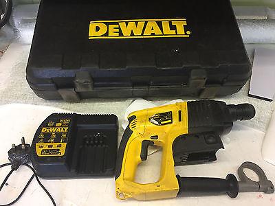 DEWALT DW004 24VOLT SDS CORDLESS HAMMER DRILL CHARGER DE0245 AND CASE