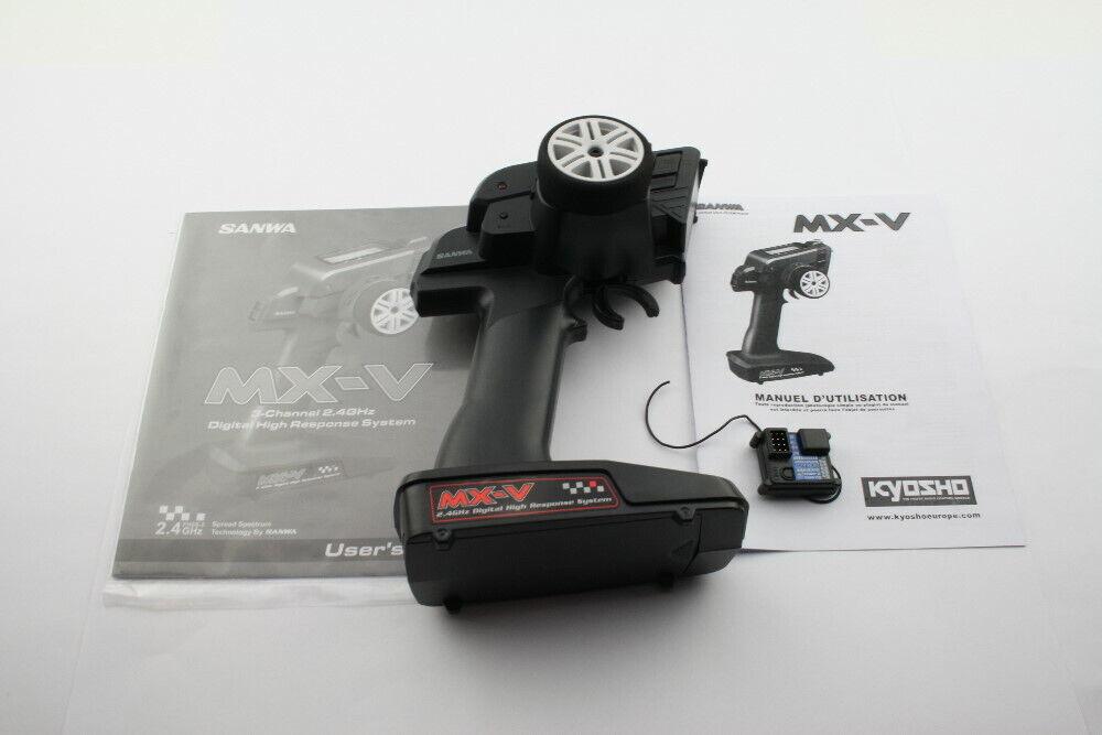 Kyosho 3 canal de control remoto sanwa MX-V 2,4 GHz + rx-37w receptor RPD ®
