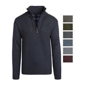 Alta-Men-039-s-Casual-Fleece-Lined-Half-Zip-Sweater-Jacket