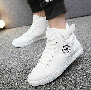 Image is loading 2018-Men-039-s-Casual-High-Top-Sneakers-