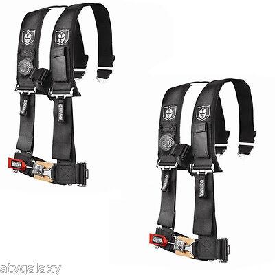 "Pro Armor 4 Point Harness 3"" Pads Seat Belt PAIR BLACK Polaris RZR XP1000 1KXP"