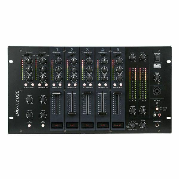 IMIX-7.2 USB 7Ch 6U install mixer, 2 zones