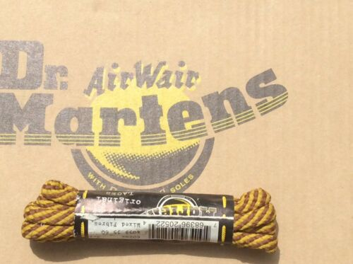 Shoe Laces. Dr Martens Original 1461 yellow and Brown Wasp