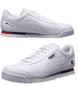 PUMA-M-Motorsport-BMW-Roma-White-logo-Leather-Casual-Sneakers-Shoes-NEW